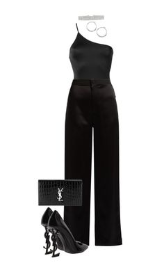 """Untitled #1579"" by elinaxblack on Polyvore featuring ADRIANA DEGREAS, Lanvin, Yves Saint Laurent and Lauren Ralph Lauren"