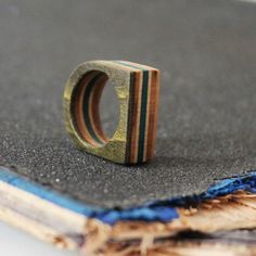 Single Finger Recycled Skateboard Ring