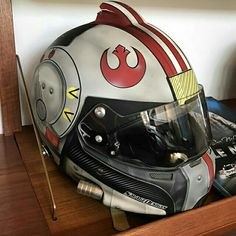 The greatest Motorcycle helmet for Nerds!!!, I gotta find a tie fighter pilot helm...