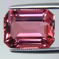 Passionate Pink Tourmaline. Emerald Cut Untreated Brazil Origin 8.40ct Eye Clean