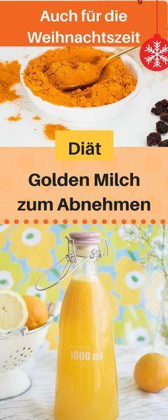 Wer täglich die goldene Milch trinkt, hat das beste Rezept, um gesund und schlank zu bleiben. Denn Kurkuma und Kokosöl, zusammen mit dem Pfeffer und weiteren Zutaten sind die besten Fatburner für eine Diät. Kurkuma Diät, Kurkuma abnehmen, goldene Milch abnehmen, Abnehm Getränk #weihnachten