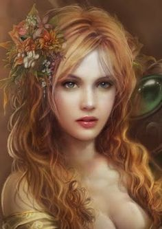 Persephone the Wife of Hades who is a God of the Underworld and she's a Queen of the Underworld and Daughter of Demeter, Goddess of the Harvest. Foto Fantasy, Chica Fantasy, Fantasy Art Women, Fantasy Girl, Hades And Persephone, Fairy Art, Pencil Portrait, Portrait Art, Gods And Goddesses