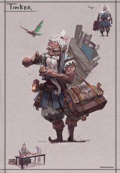 Heroes - Ancient Civilization Charater Designs : Thinker by Jason Nguyen    / https://www.artstation.com/artwork/lKKwk