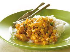 Maissi-kanakastike sopii tarjottavaksi riisin tai pastan kanssa. Koko perheen arkisuosikki.