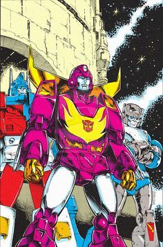 IDW TF Regeneration 1 #81 - Cover B by *GuidoGuidi on deviantART - Transformers Rodimus Prime, Ultra Magnus, and Kup - 80s Retro style