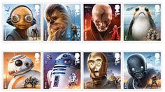 En lo más fffres.co: Una colección de sellos postales de Star Wars para anunciar el Episodio VIII en Reino Unido: El 15 de… #Diseño_gráfico