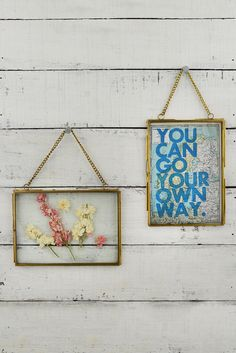 Hanging Double Glass Picture Frame 5x7in (Set of 2). For Grandpa Irving's letters