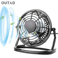 Fan Parts Hearty Notebook Laptop Computer Portable Super Mute Pc Usb Cooler Desk Mini Fan Black H Home Appliance Parts