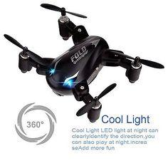 ﹩35.49. Mini Drone Quadcopter Kingtoys Nano X31 Foldable RC Drones 3D Roll with LED P...    Color - Black,