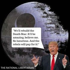 Funny Donald Trump Memes and Viral Images: Trump's Death Star