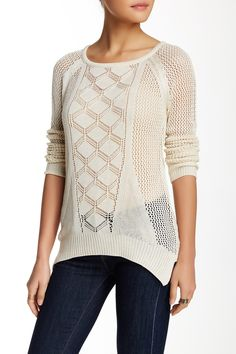 Yoki - Front Design Crew Neck Sweater at Nordstrom Rack. Free Shipping on orders over $100.