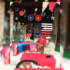 My western graduation party photo booth. Most of my ideas were inspired by Pinterest.