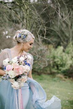 Ice Blue Weddings, Spring Weddings, Blue Wedding Dresses, Flower Girl Dresses, Wedding Vendors, Wedding Events, Polka Dot Wedding, Floral Garland, Creative Colour