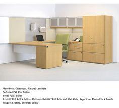 WaveWorks Private Office w/ Exhibit wall rail - National Office Furniture