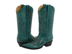 Old Gringo Yippie Ki Yay Ashton Western Boot leather turquoise 11.5sh 1.5h (275.00) NA 8/14
