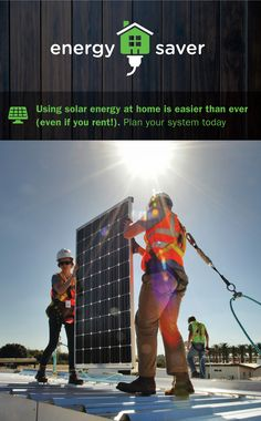 Renters and owners alike now have more options for using solar energy at home. Learn how to plan your system at EnergySaver. Renewable Energy, Solar Energy, Energy Saver, How To Plan, Learning, Health, Home, Solar Power, Health Care