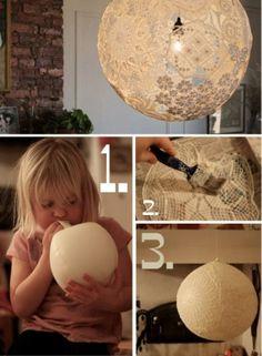 DIY Doily Lamp DIY Doily Lamp by diyforever
