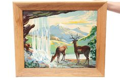 Vintage Paint By Numbers Deer by TheVintageRhino on Etsy, $49.00