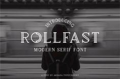 Rollfast By Yudhi Priansyah on YouWorkForThem.  #Font #Typography #Vintage #Poster #Graphic #Design #Retro #Labels