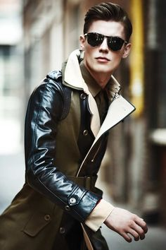 bomber trench #menswear - Just think this looks awesome. Would probably attempt to rock it myself.