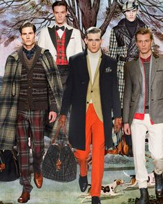 Mens fashion trend forecast: Fall-Winter 2014/2015 themes from TREND COUNCIL Smart plaids, dapper caps and leather gloves