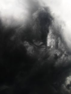 Figure in the clouds