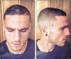 Get it or nah Very Short Hair Men, Short Hair Cuts, Short Hair Styles, Slick Hairstyles, Hairstyles Haircuts, Haircuts For Men, Brylcreem, Bild Tattoos, Shaved Head