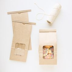 Tin-Tie Coffee and Treat Bags, Kraft