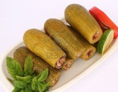 Photo about Lebanese food - cooked zucchini over white background. Image of lebanon, cook, herbs - 21668671 Lebanese Cuisine, Lebanese Recipes, Pureed Food Recipes, Cooking Recipes, Healthy Recipes, Antipasto, Palestinian Food, My Favorite Food, Favorite Recipes