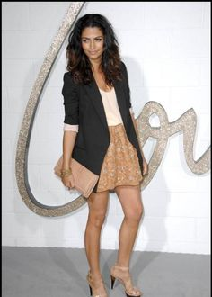 Dressy casual... swap the high-heeled sandals for nude pumps to create a very easy chic work outfit.