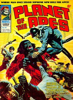 Marvel UK, Planer of the Apes #67, Conquest http://ewoodworkingprojects.com/wooden-candle-holders/