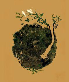 • Vinyl Art • ⋅ Nature's Choir ⋅ artist: Budi Satria Kwan