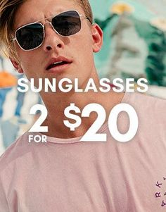 Bargain - 2 for $20 - Sunglasses @ Hallenstein Brothers