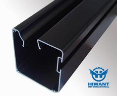 Black color powder coating aluminium profile for mental guide, Hiwant accepts processing with supplied drawings.