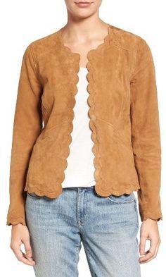 Women's Chelsea28 Scalloped Suede Jacket
