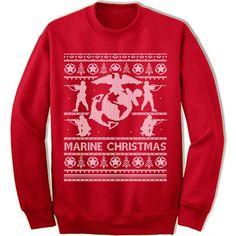 Marine Ugly Christmas Sweater.