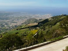 View over the salt flats from atop Erice