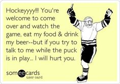 So true! Hockey has taken over my life, no wonder I do not go out and do anything ever. There is always hockey on to watch! Hockey Rules, Flyers Hockey, Blackhawks Hockey, Hockey Teams, Hockey Players, Chicago Blackhawks, Hockey Stuff, Hockey Sayings, Caps Hockey
