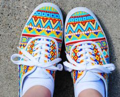 Cute Aztec Vans Shoes for Fashion Girls #aztec  #sneakers http://www.loveitsomuch.com/