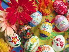 Egg Painting And Decoration Easter Eggs Orthodox Easter, Greek Easter, Easter 2014, Easter Egg Designs, Easter Wishes, Easter Pictures, Easter Traditions, Flowers, Manualidades