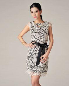 91a7f5405bf Women's Trendy O-Neck Print Chiffon Above Knee Sleeveless Straight Dress