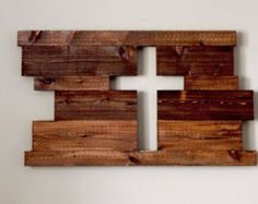 Rustic Sign Wood Sign Wood Cross Large Board by UnityWeddingBraids
