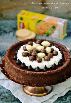 Search Results Pasca cu smantana si ciocolata Black Forest Cheesecake, Dessert Recipes, Desserts, Chocolate, Something Sweet, Cheesecakes, Gluten Free Recipes, Nutella, Recipies