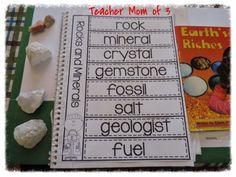 Exploring geodes in a rock and mineral homeschool science study.