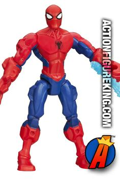 6-inch high Spider-Man Marvel Super Hero Mashers action figure from Hasbro. #spiderman #marvelsuperheromashers #actionfigures