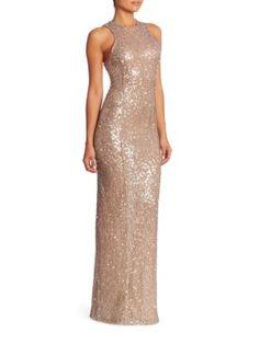 GALVAN Sequin Embellished Gown. #galvan #cloth #gown