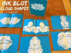 Little Cloud book craft idea- make Ink Blot Cloud Shapes!
