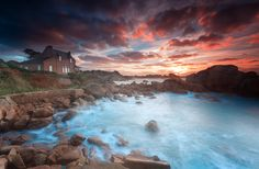 Sunset @ Ploumanac'h (Brittany) by Eric Rousset