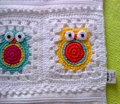 Owl Granny Square Afghan