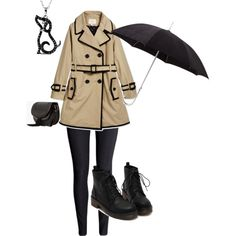 Rainy Day Detective by spacecafe on Polyvore featuring Kate Spade, H&M, MANGO and ShedRain